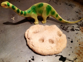 dino salt dough fossil