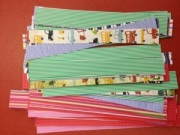 Paper strips for weaving