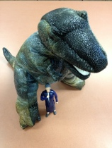 T-rex and Nancy Pearl