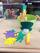 Pop up frog craft materials