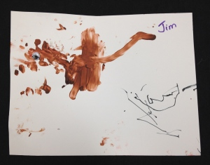 Monkey Handprint Art 4