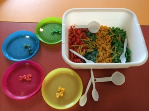 Butterfly Sensory Tub Coloring Sorting