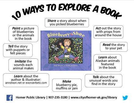 10 Ways to Explore a Book- Blueberry Shoe