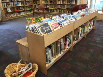 Picture Book Bins and New Book section image